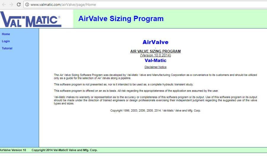 Air Valve Sizing Program